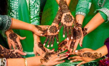 La aplicación de henna en las cejas es también un arte!